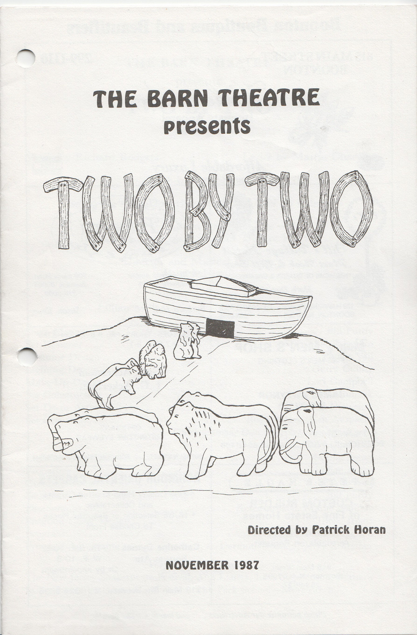 Program Cover for Two by Two