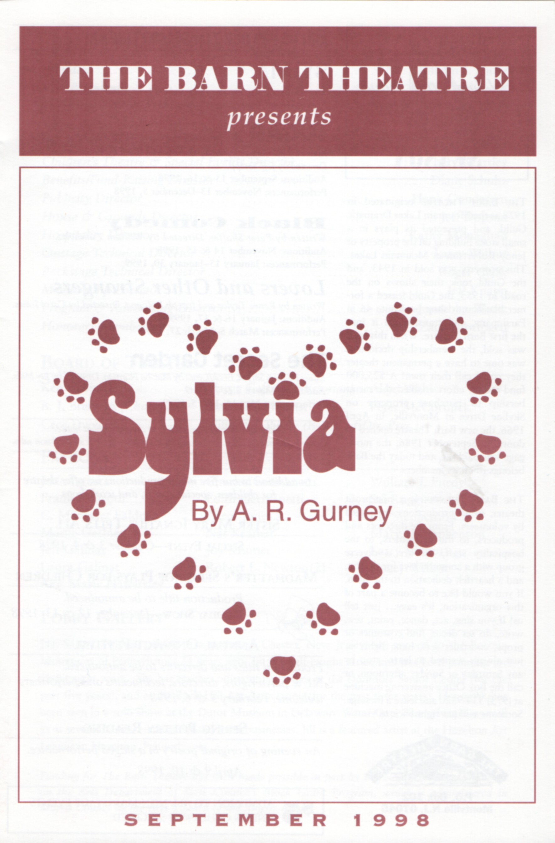 Program Cover for Sylvia