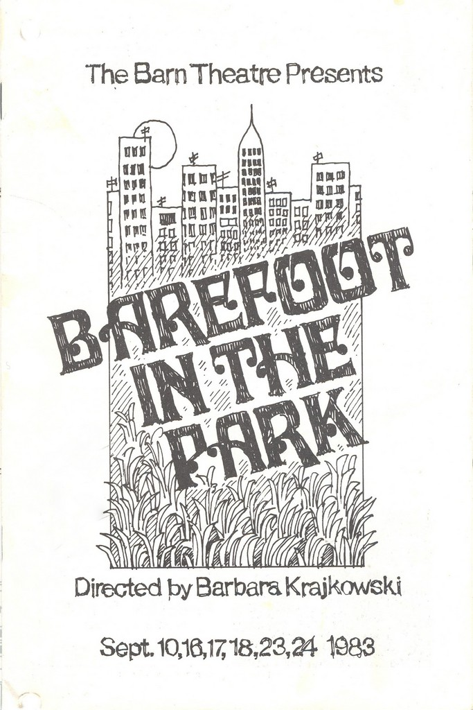 Program Cover for Barefoot in the Park