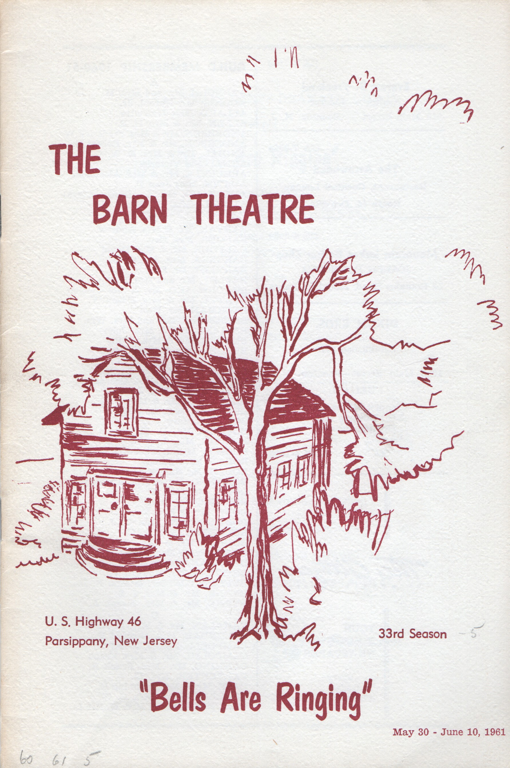 Program Cover for Bells are Ringing