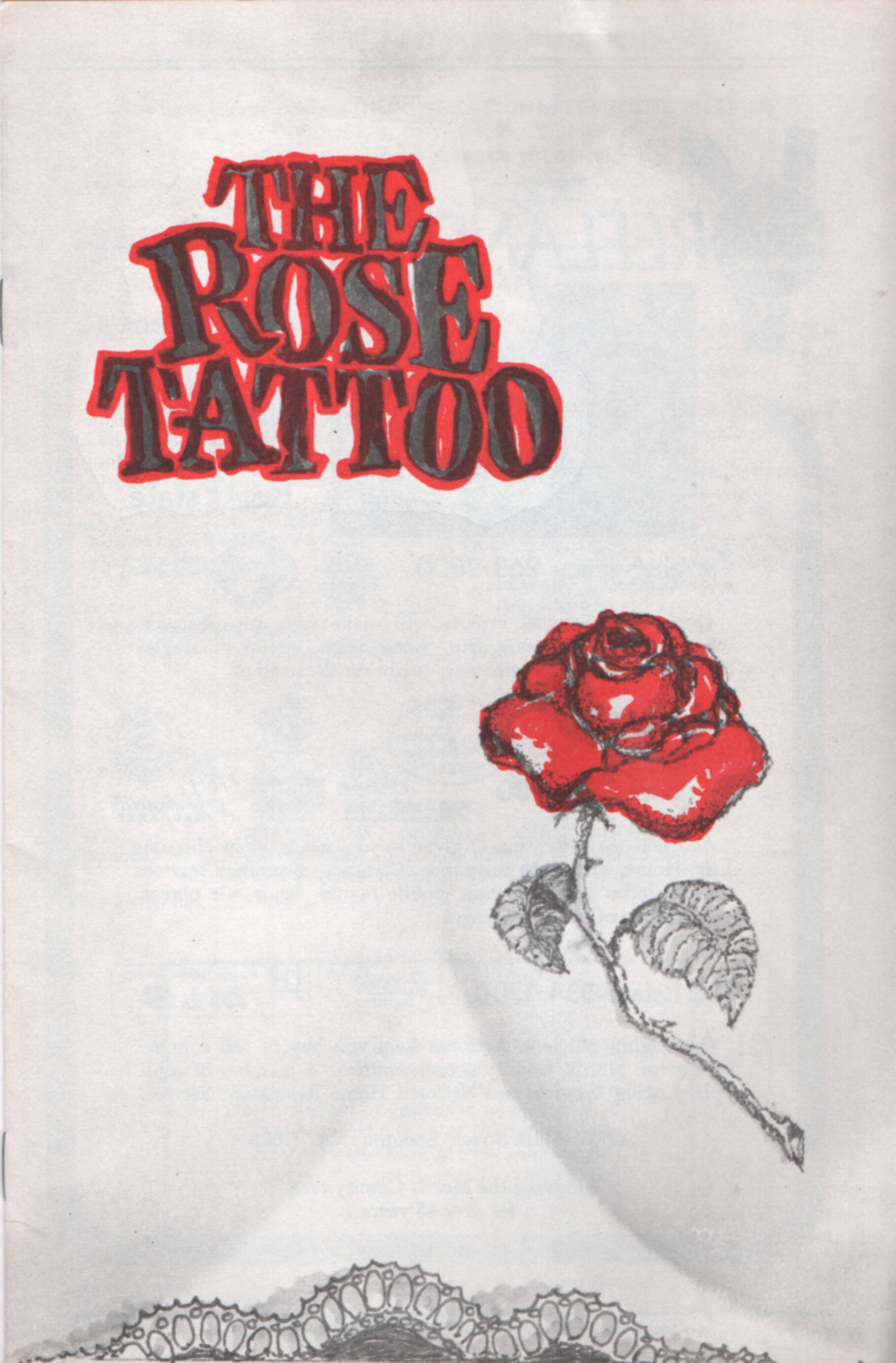 Program Cover for The Rose Tattoo