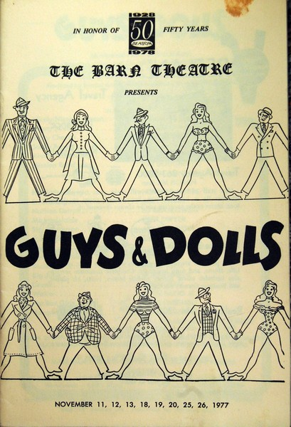 Program Cover for Guys and Dolls