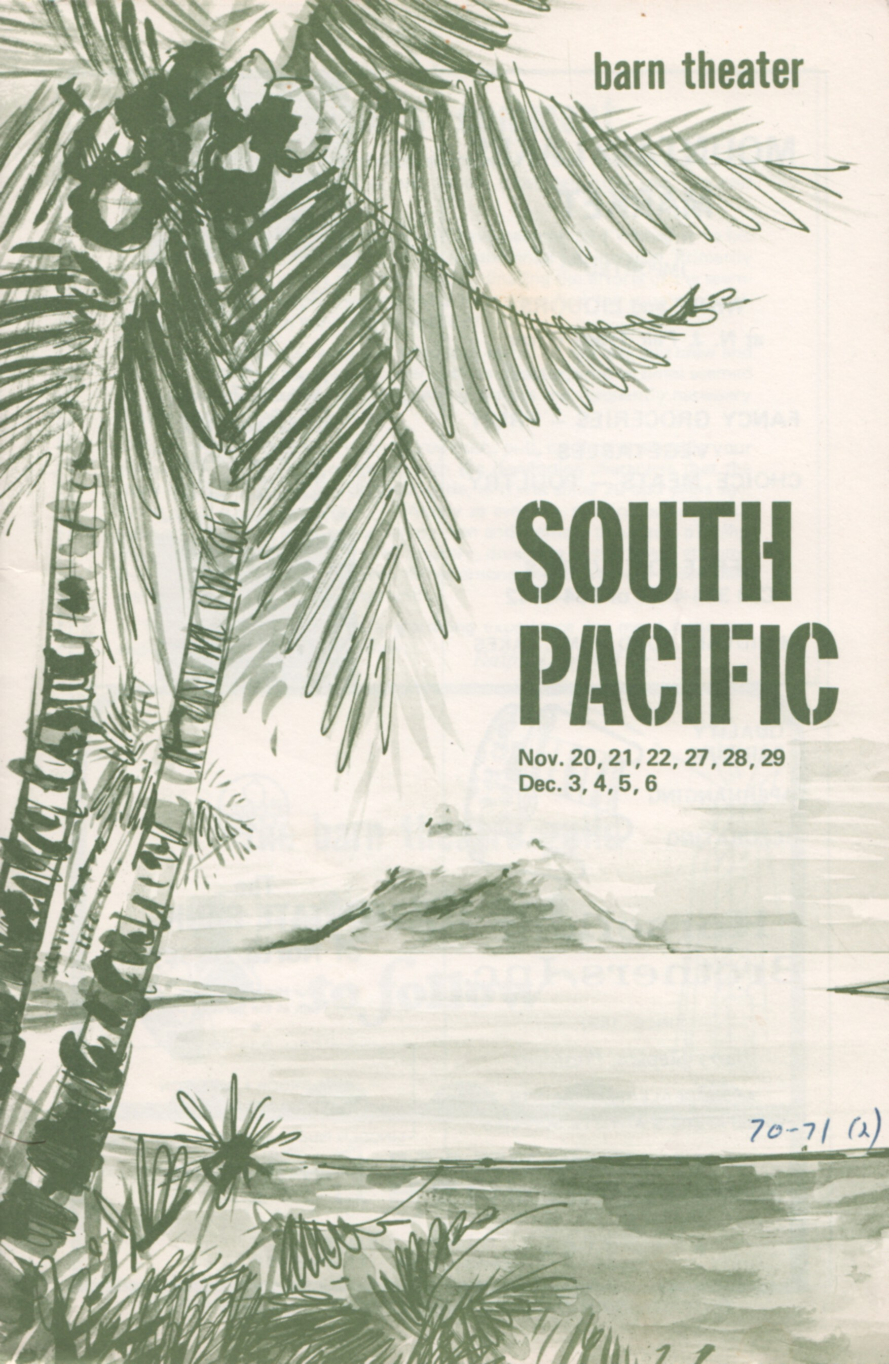 Program Cover for South Pacific