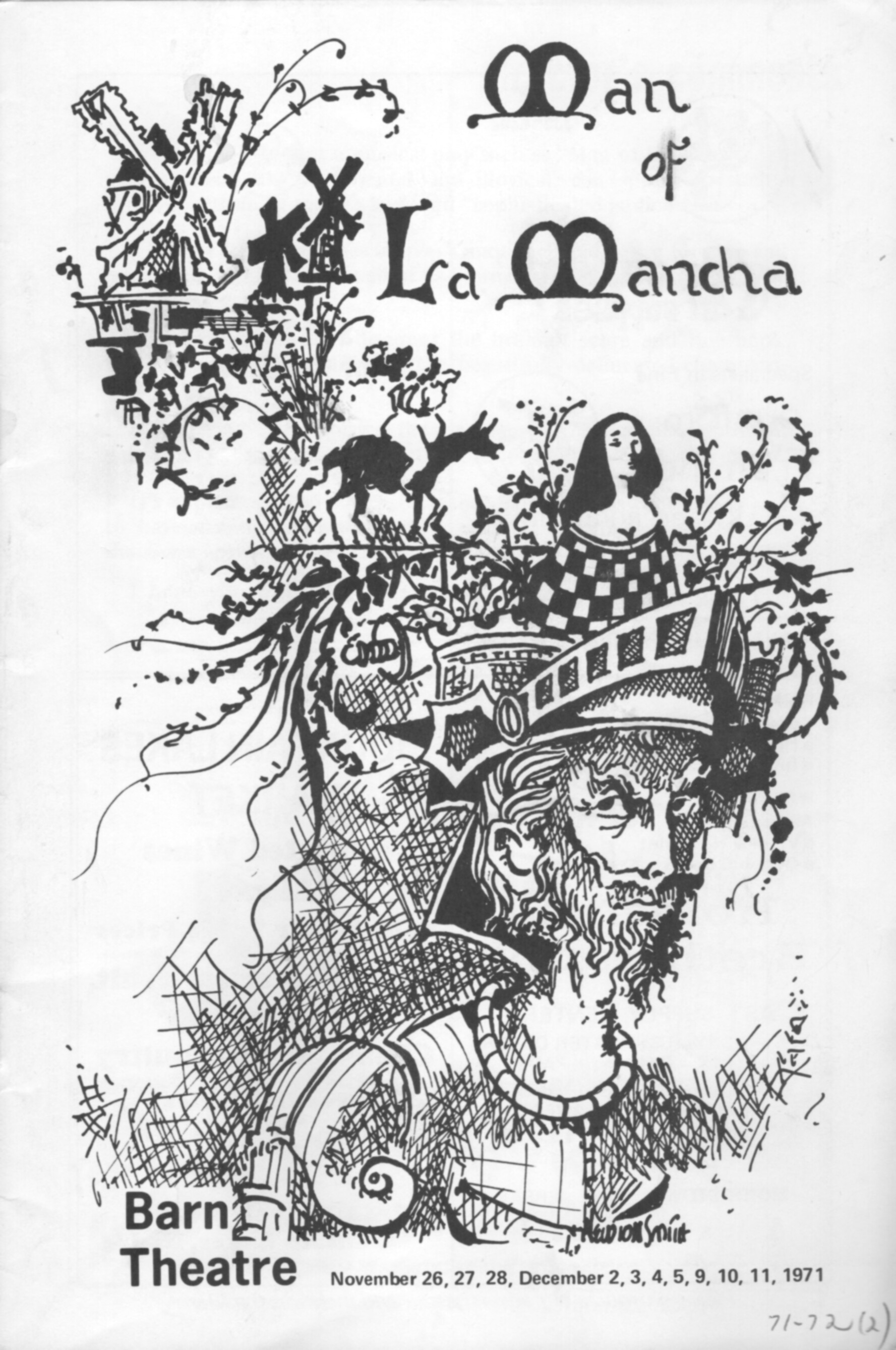 Program Cover for Man of La Mancha