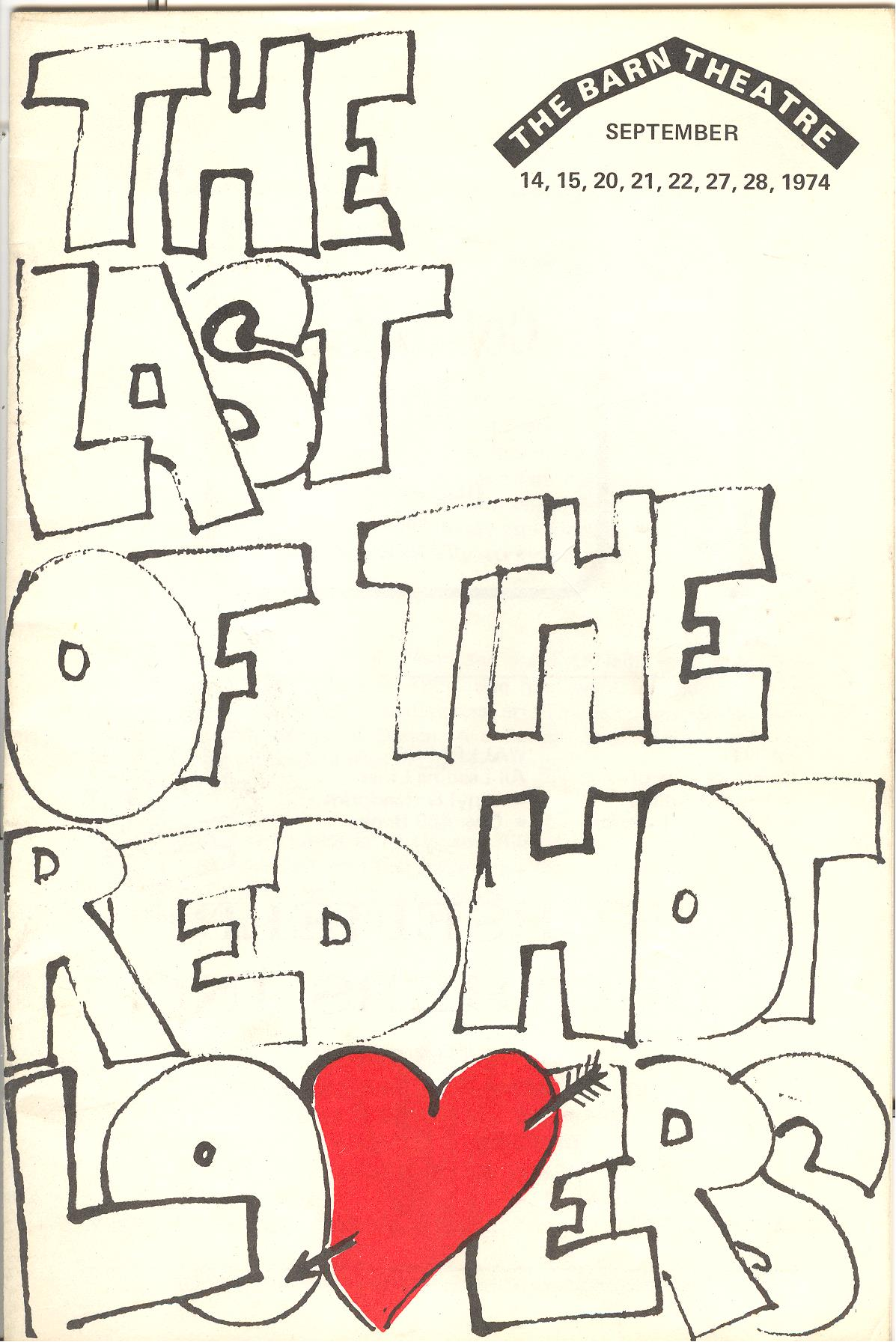 Program Cover for Last of the Red Hot Lovers