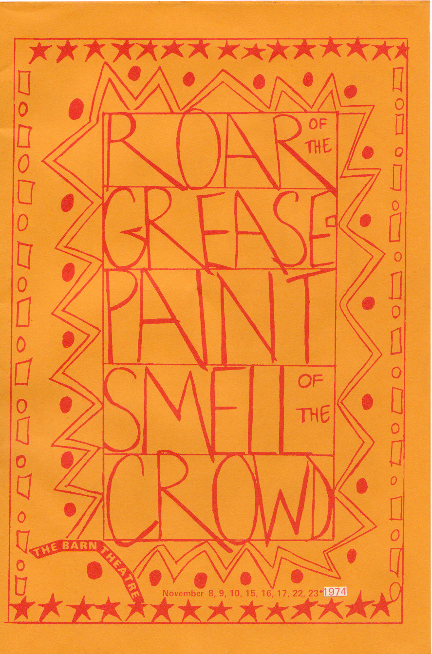 Program Cover for Roar of the Greasepaint, Smell of the Crowd