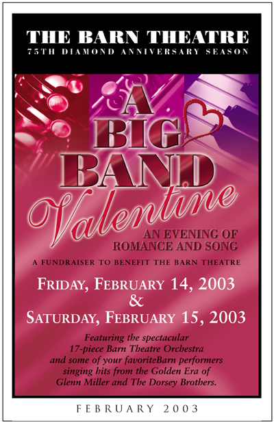 Program Cover for A Big Band Valentine