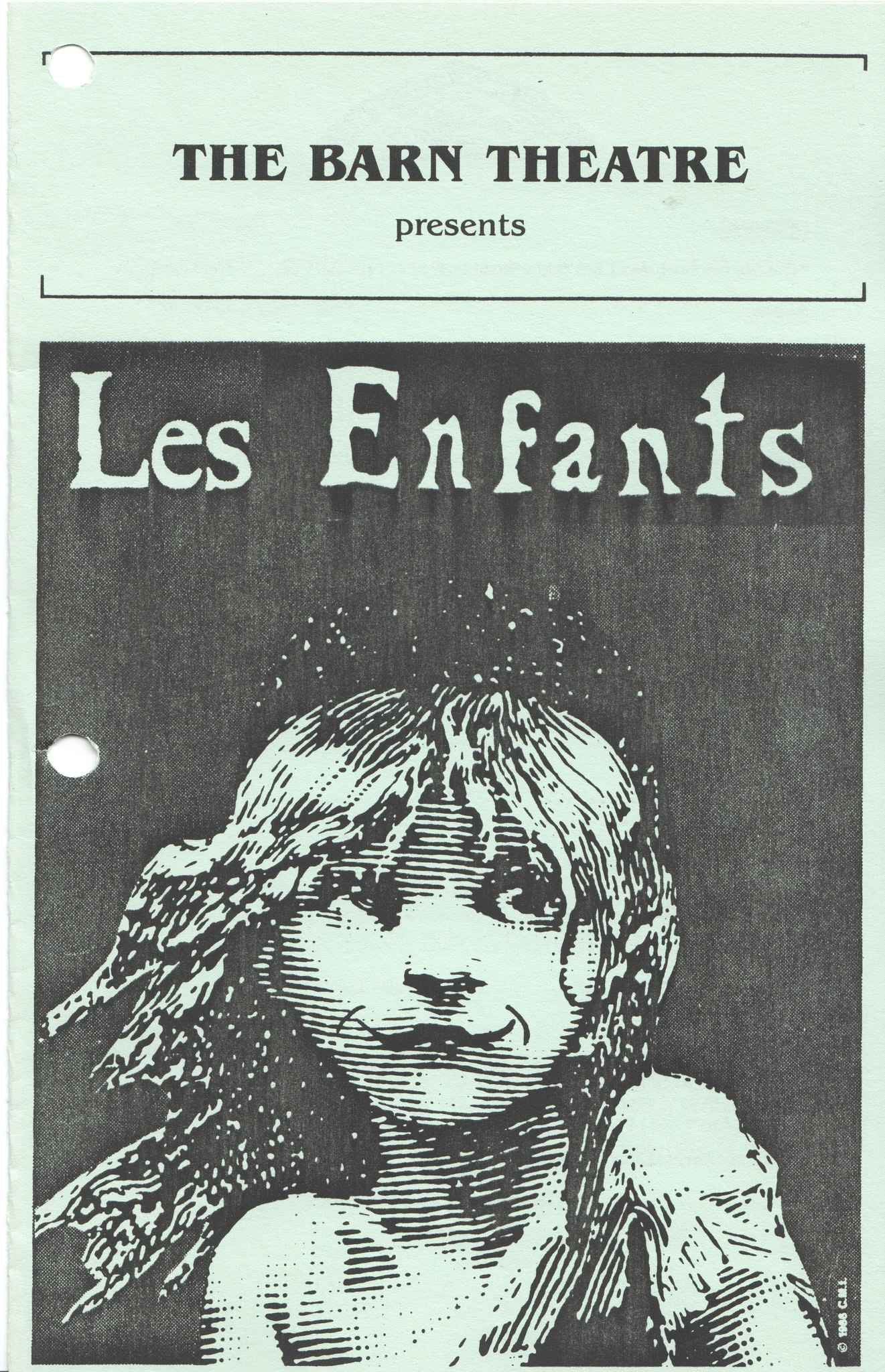 Program Cover for Les Enfants