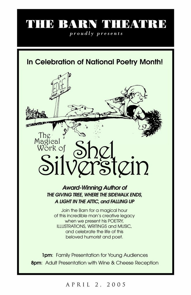 Program Cover for An Evening (or Afternoon) of Shel Silverstein