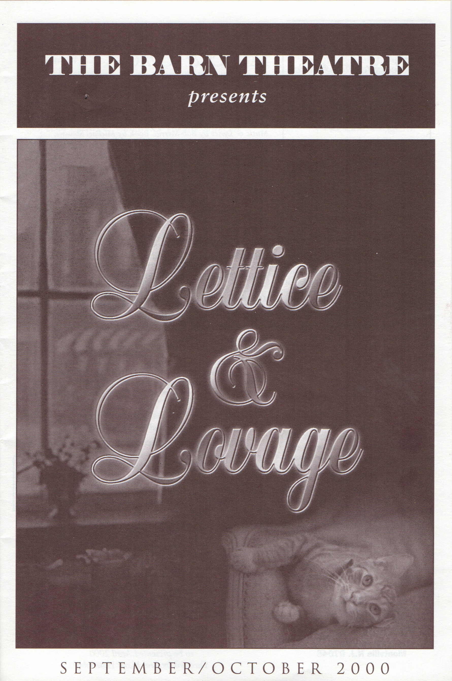 Program Cover for Lettice and Lovage
