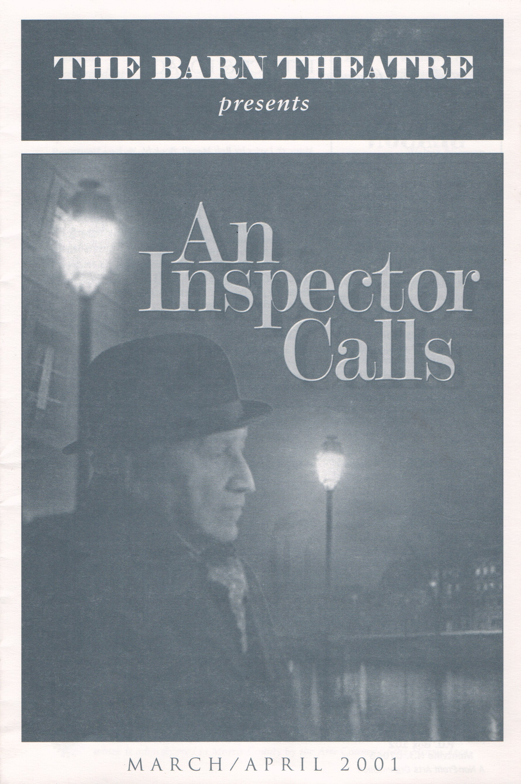 Program Cover for An Inspector Calls