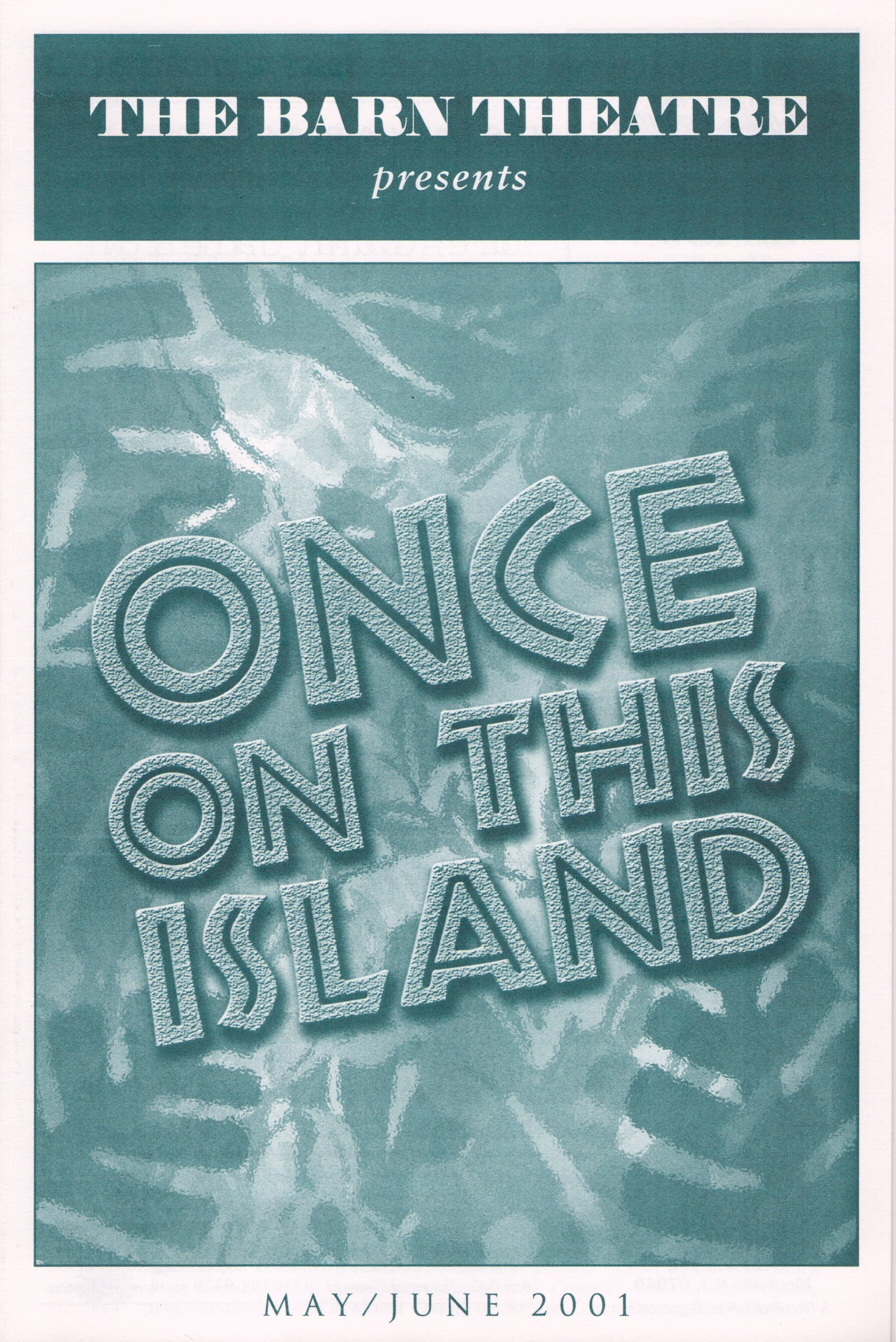 Program Cover for Once on This Island