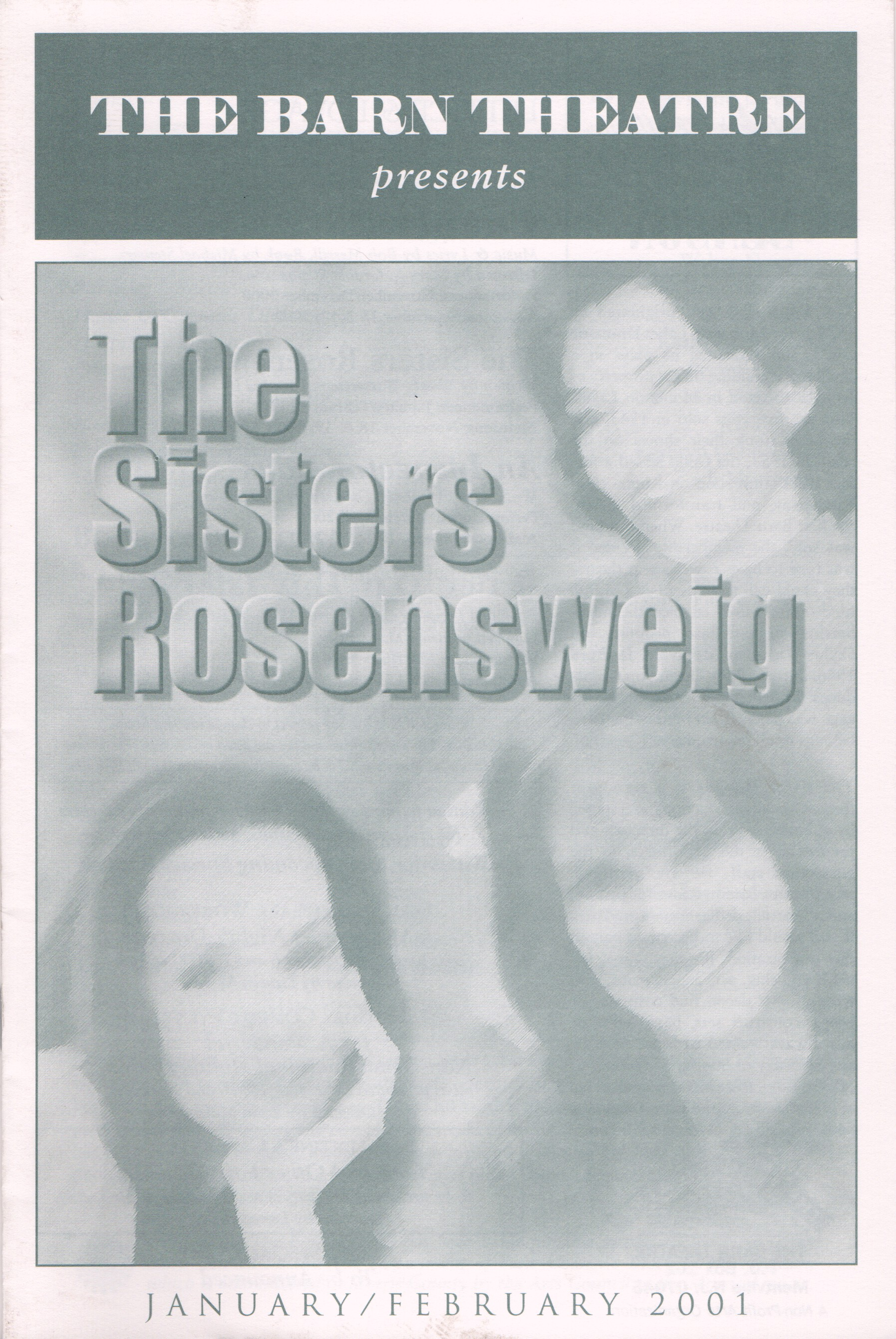 Program Cover for The Sisters Rosensweig