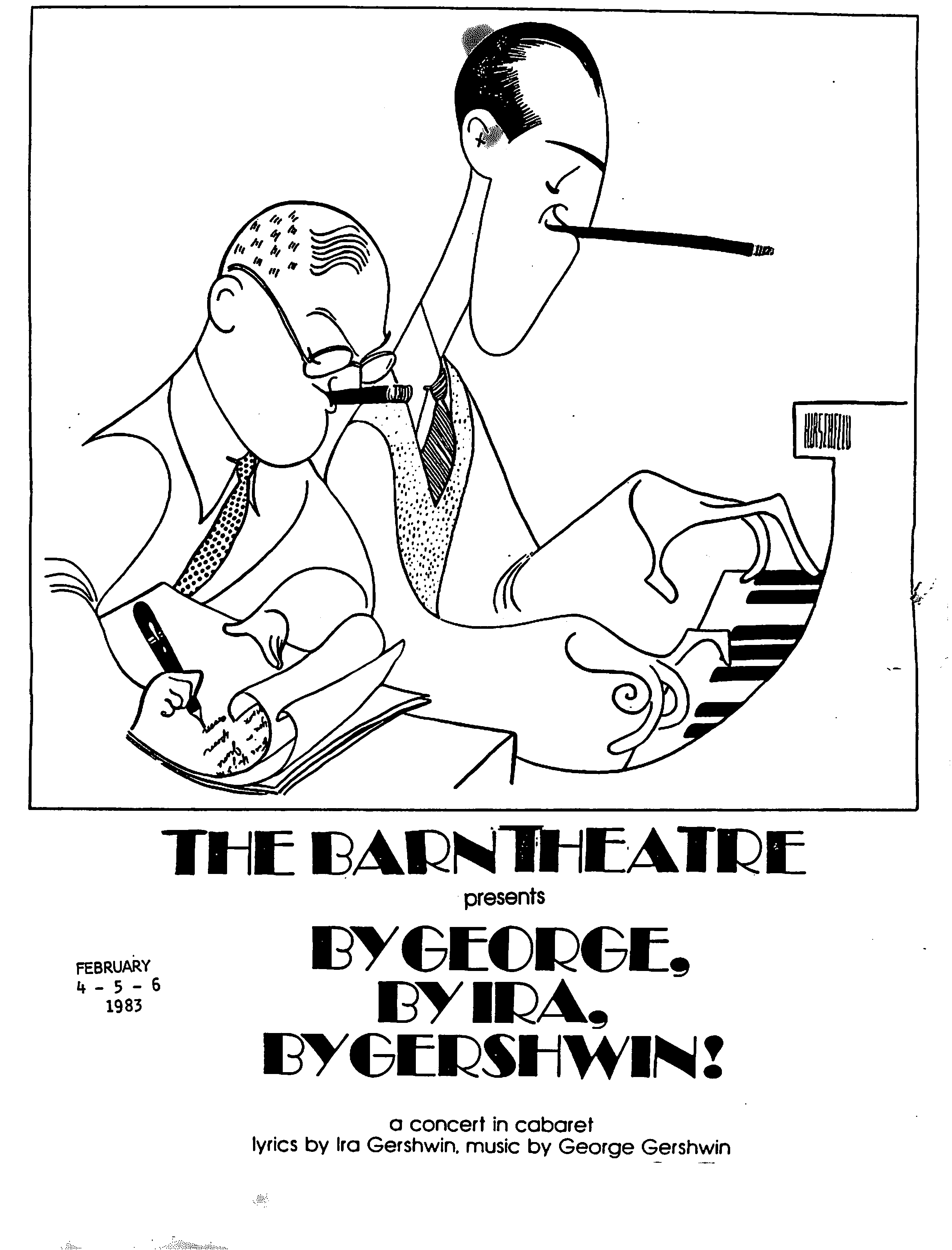 Program Cover for By George, By Ira, By Gershwin!
