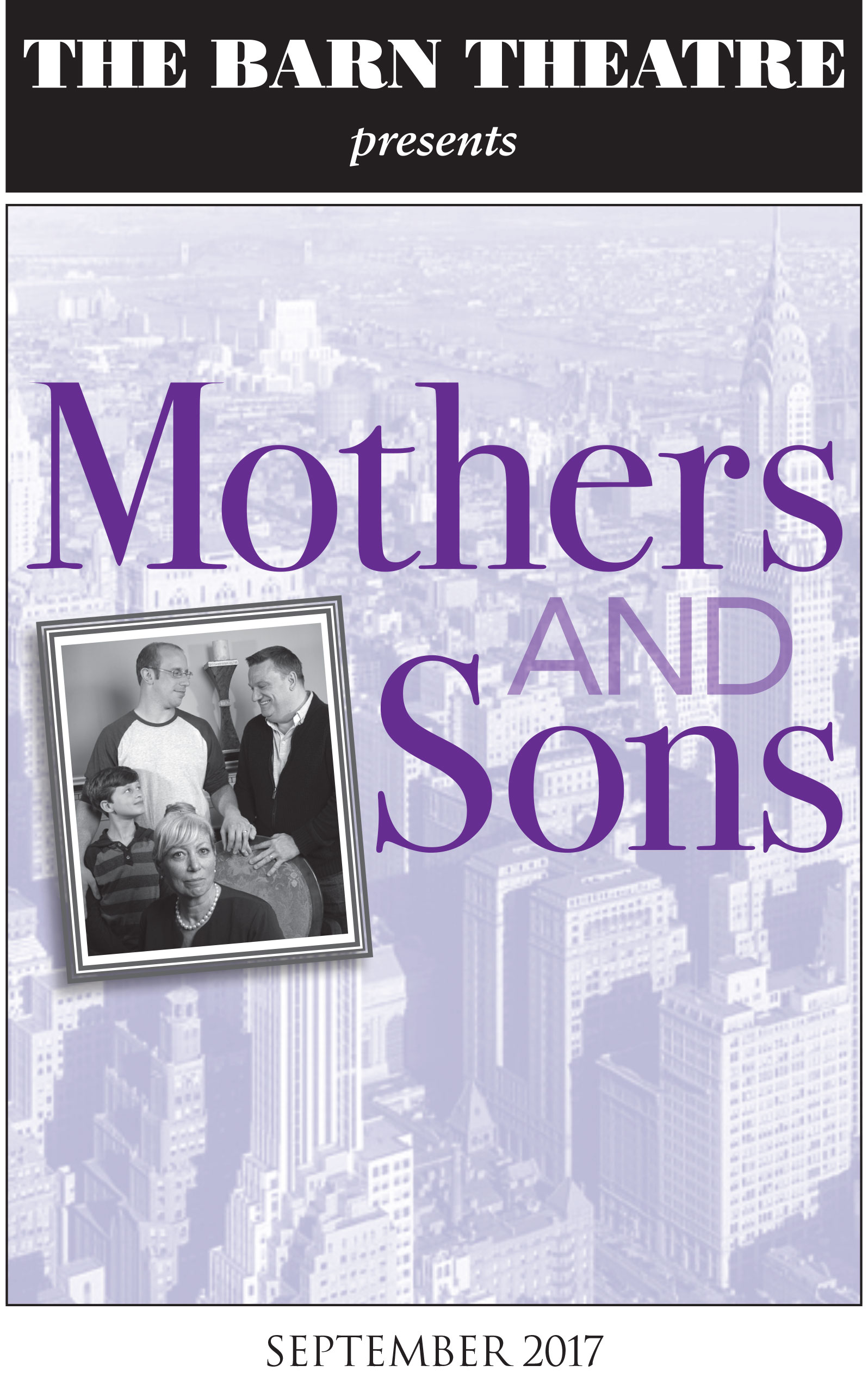 Program Cover for Mothers and Sons