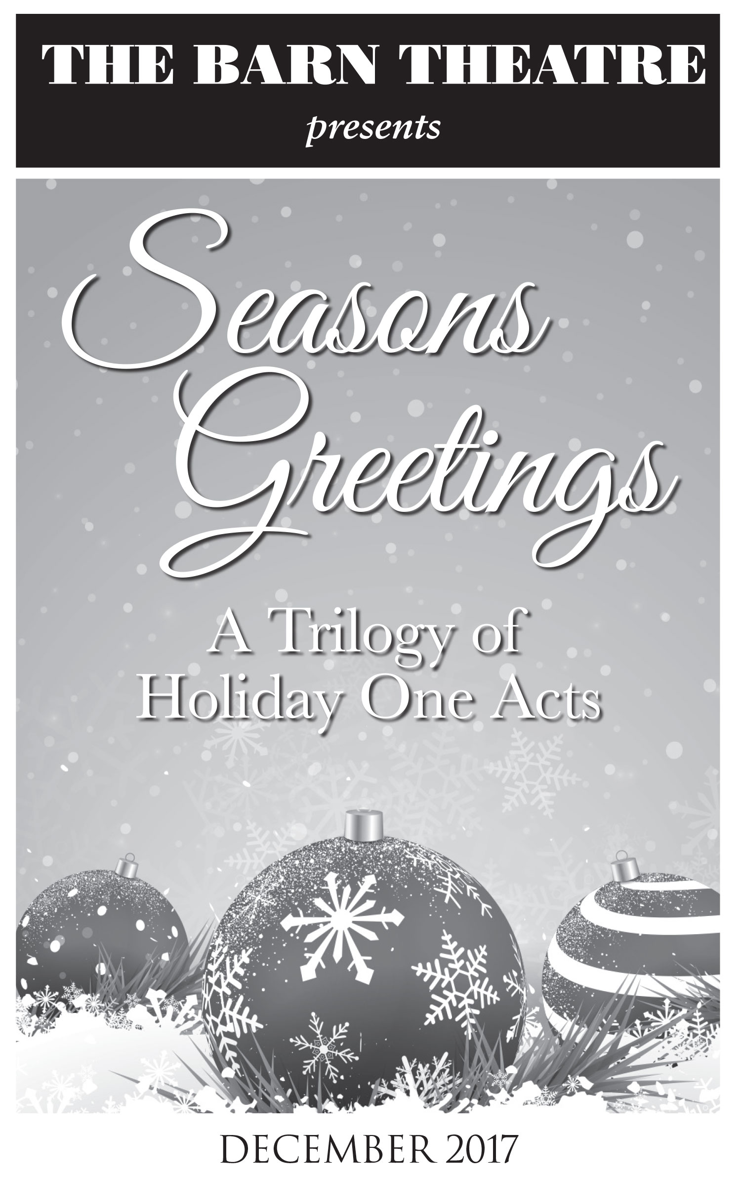 Program Cover for Seasons Greetings: A Trilogy of Holiday One Acts