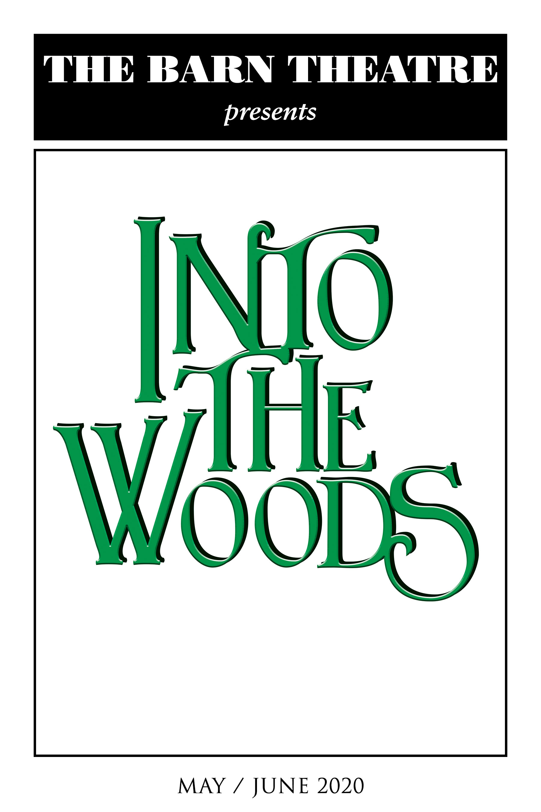 Program Cover for Into the Woods