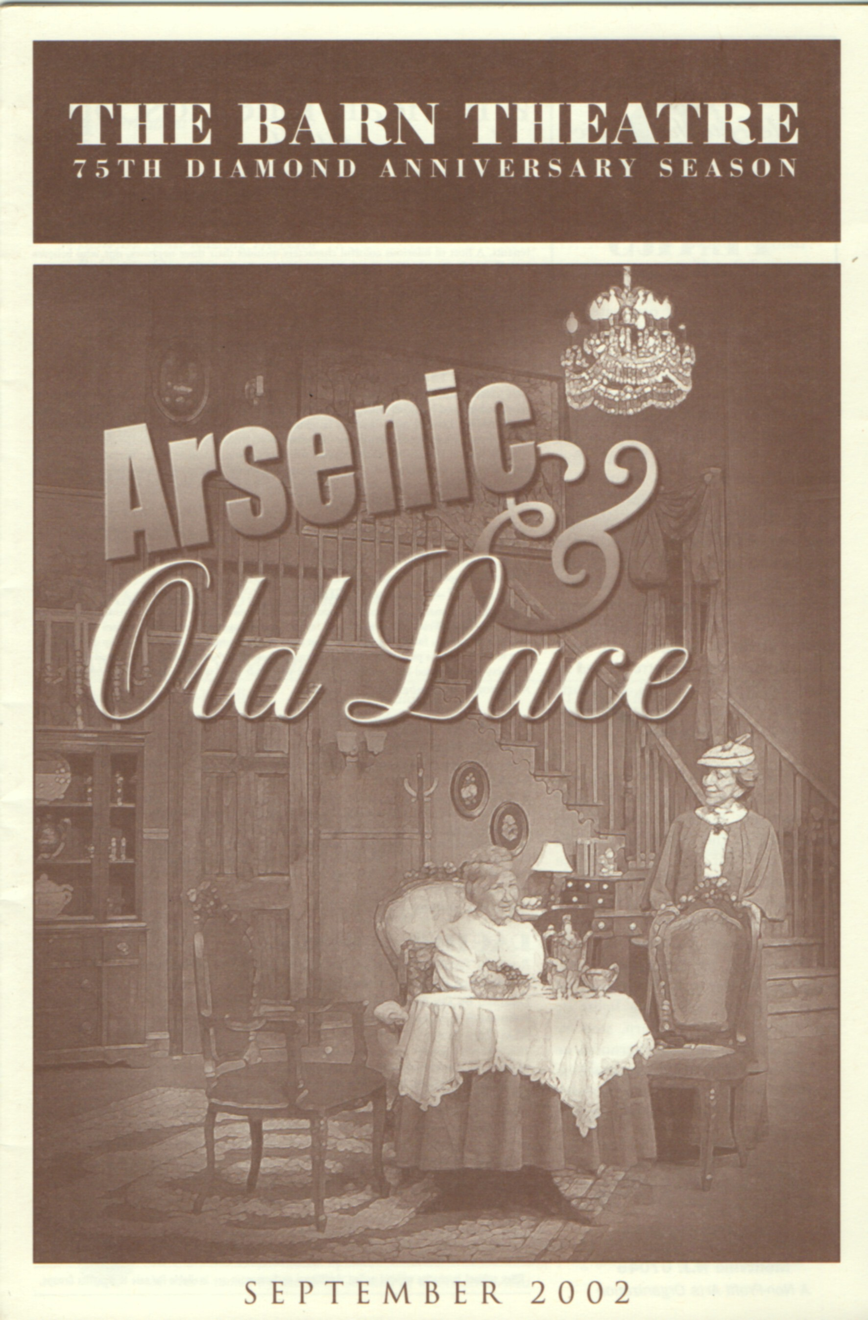 Program Cover for Arsenic and Old Lace