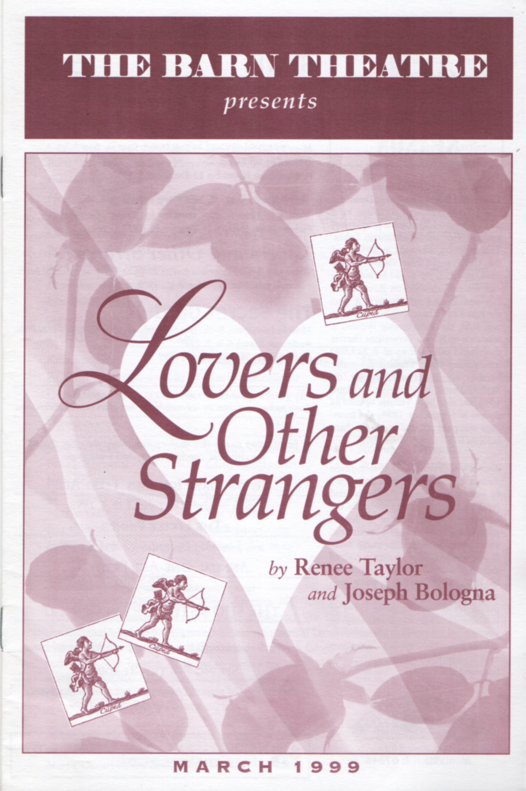 Program Cover for Lovers and Other Strangers