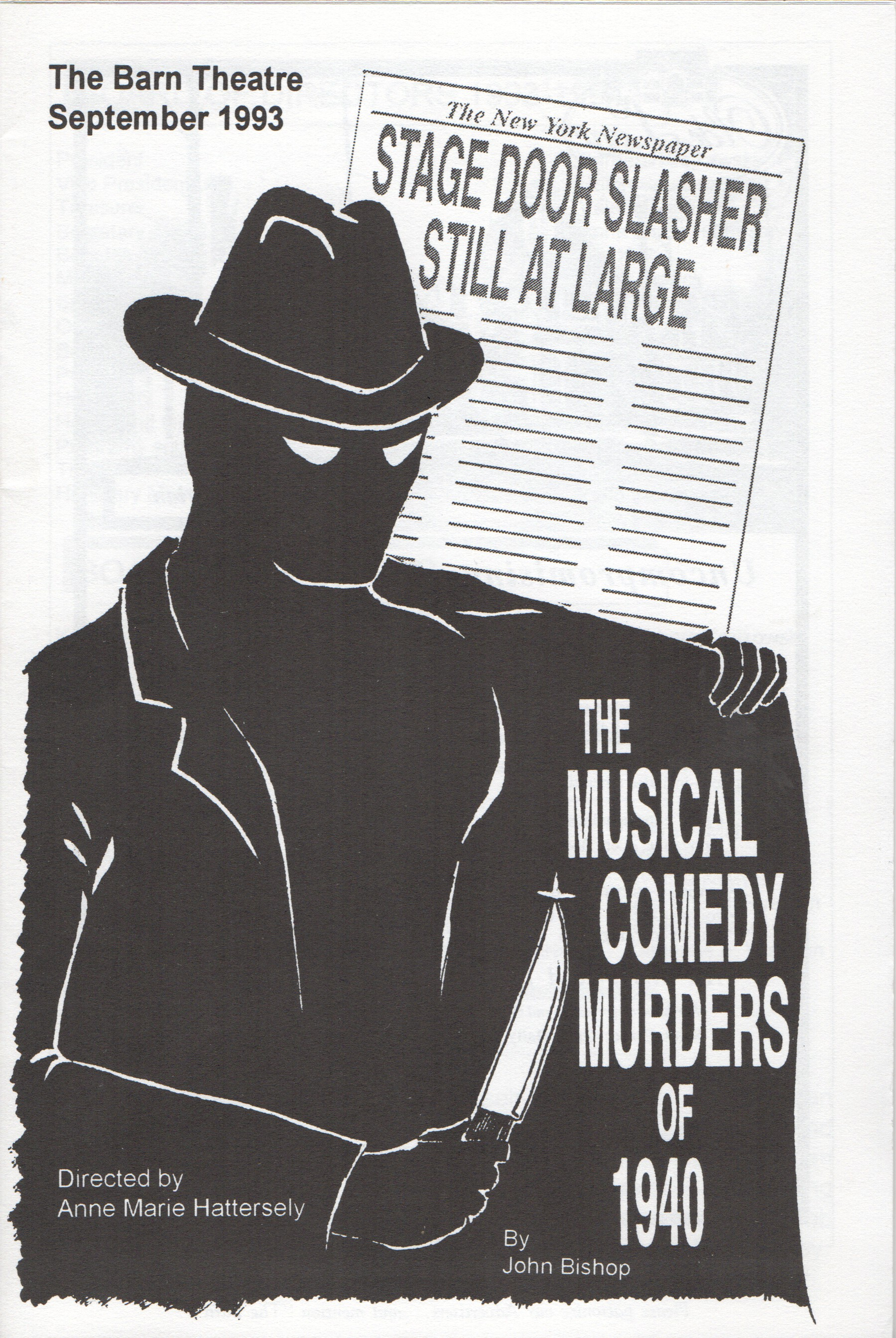 Program Cover for Musical Comedy Murders of 1940