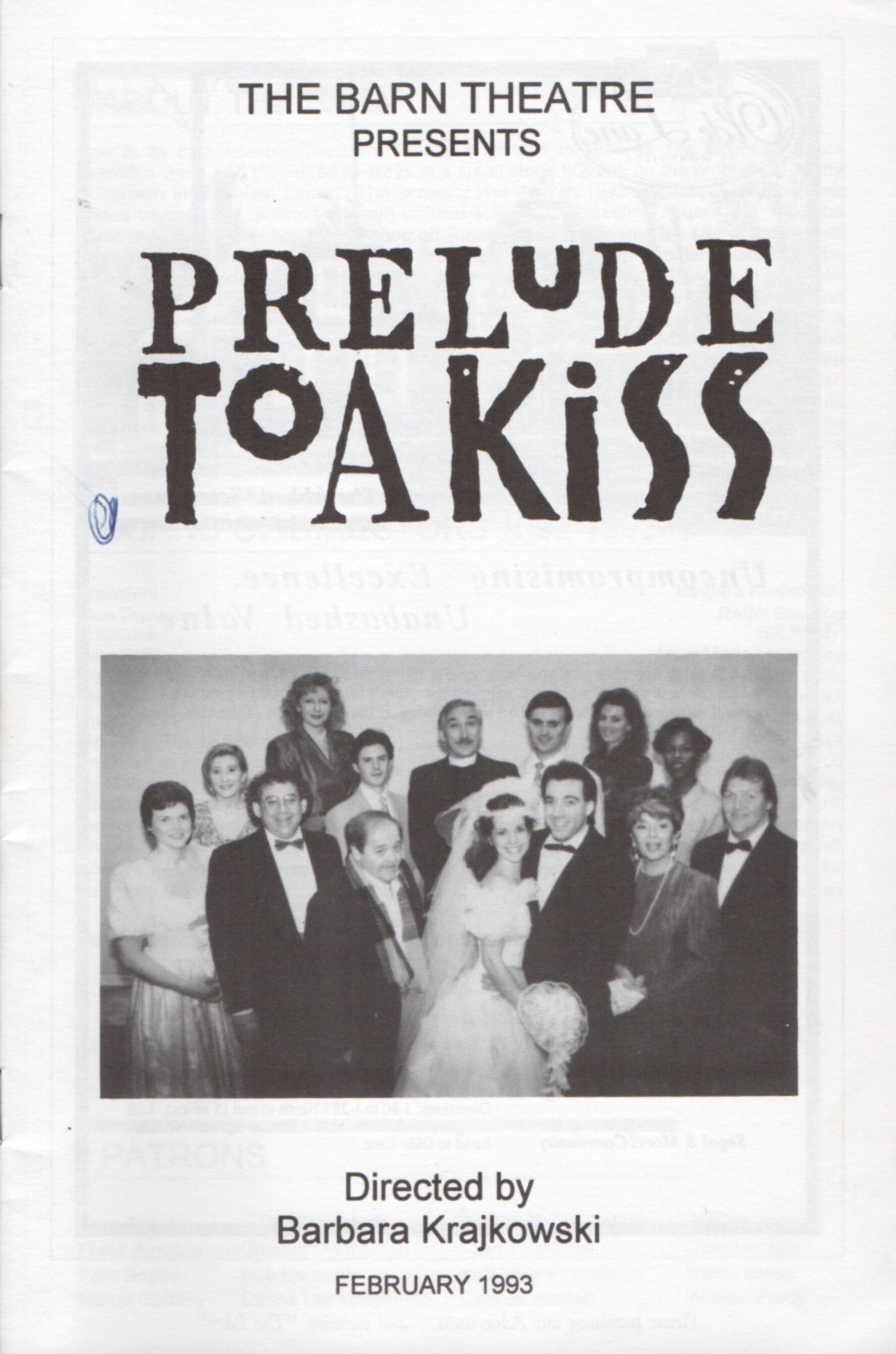 Program Cover for Prelude to a Kiss