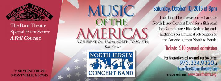 ONE NIGHT ONLY! North Jersey Concert Band, October 10, 2015 at 8pm