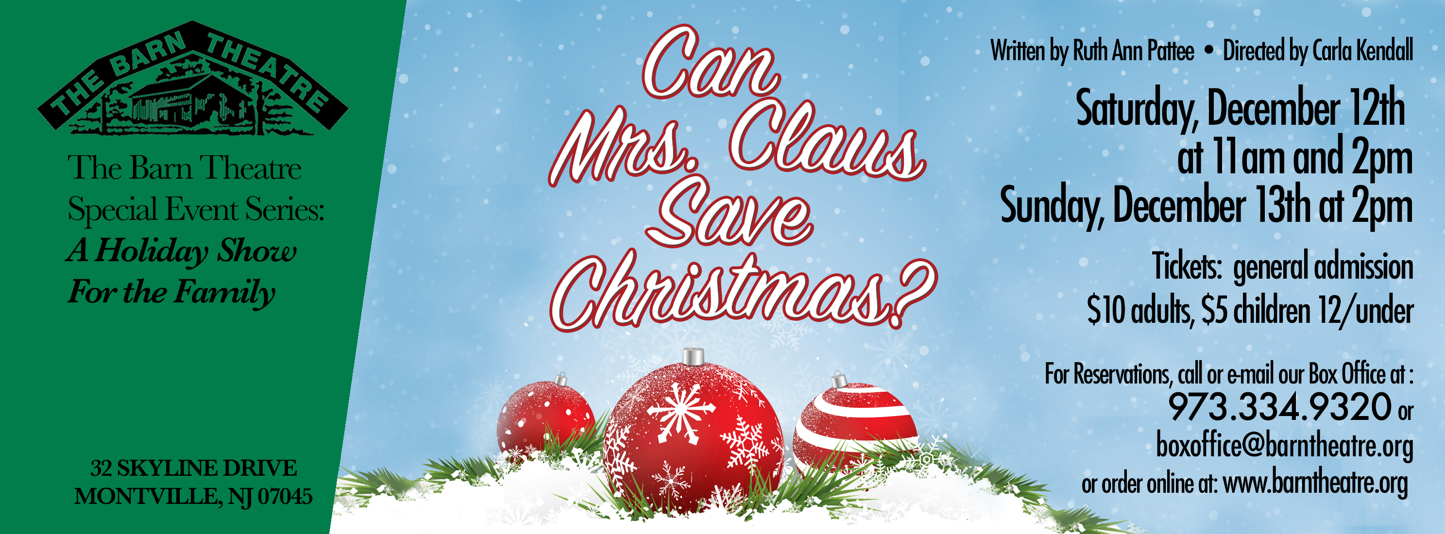 Can Mrs. Claus Save Christmas? December 12 and 13, 2015