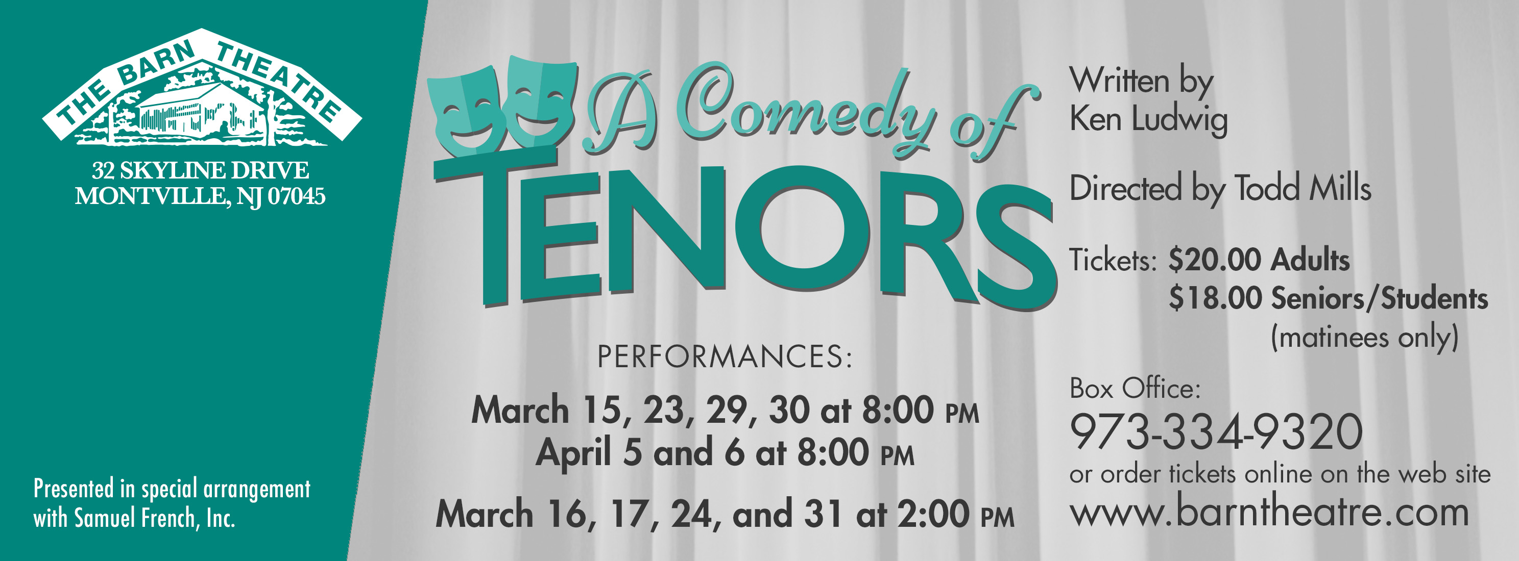 A Comedy of Tenors Closes