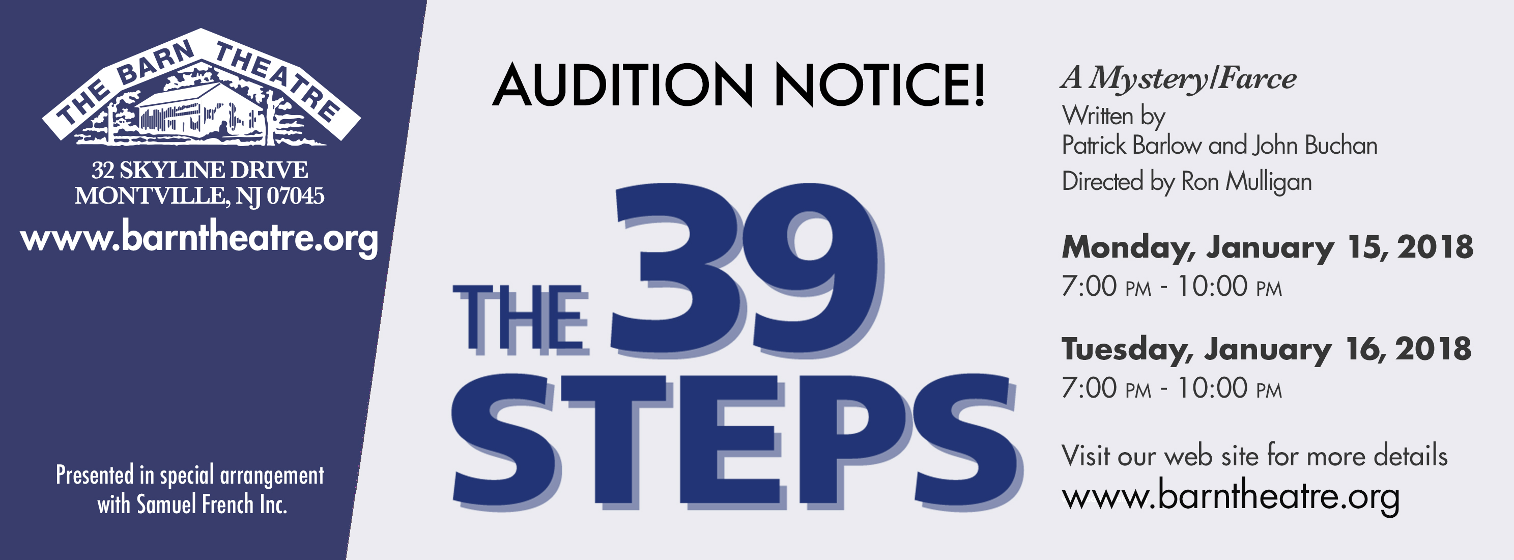 The 39 Steps Auditions