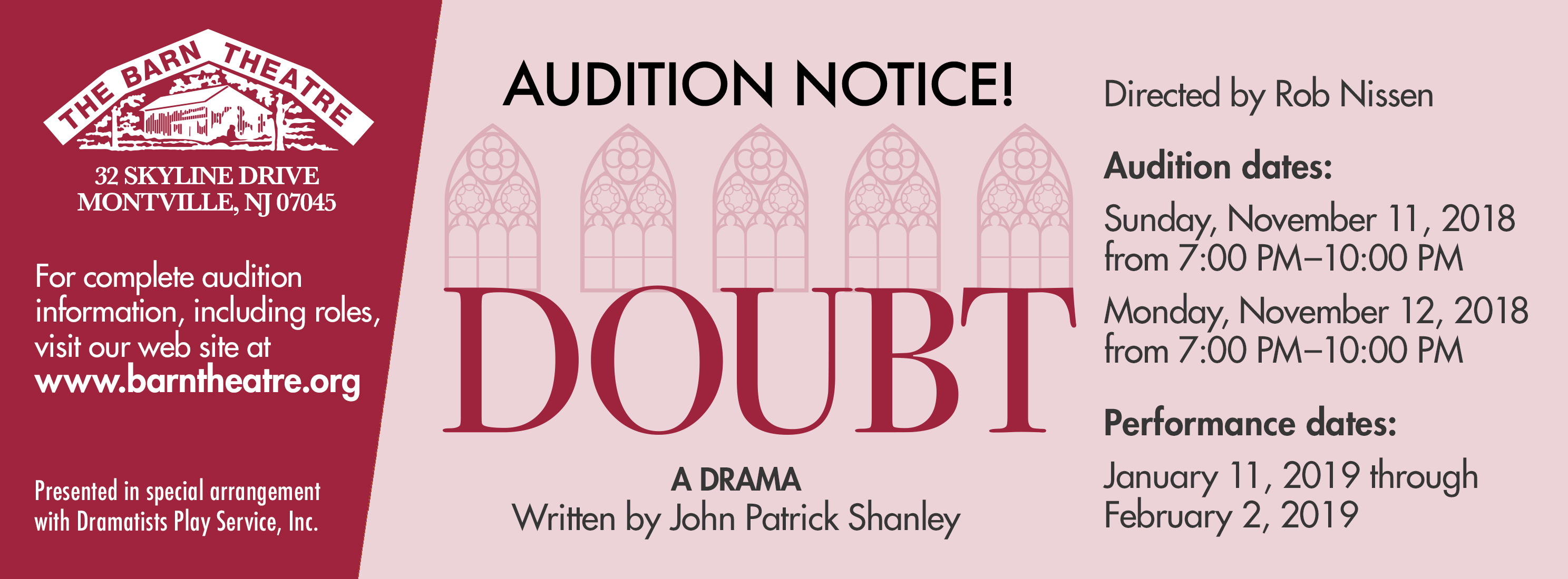 Doubt Auditions