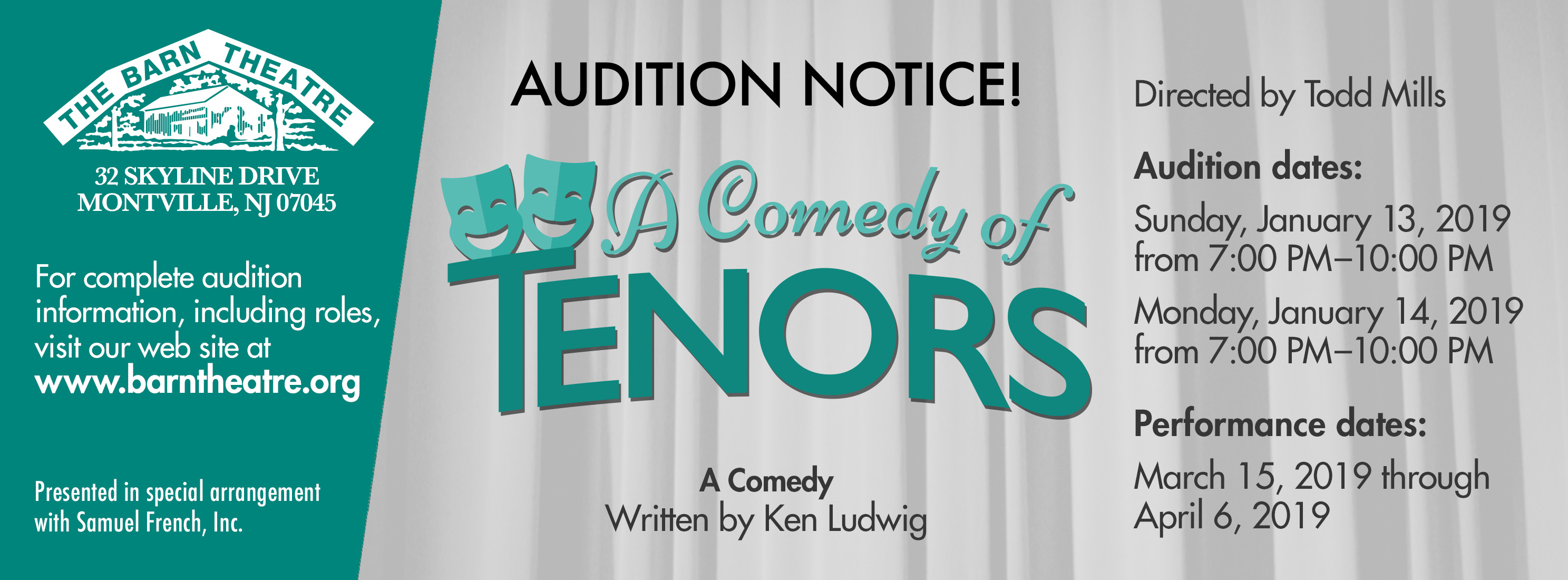A Comedy of Tenors Auditions